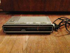 Vintage Sanyo Rm6100 Super Thin Am/Fm Clock Radio & Alarm Clock, Tested, Works!