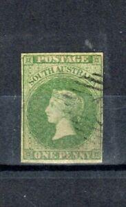 Australia - South Australia 1858 1d yellow-green FU