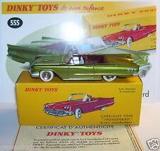 DINKY TOYS ATLAS CABRIOLET FORD THUNDERBIRD VERT METAL 1/43 REF 555 IN BOX