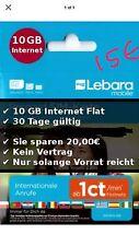10 GB internet***®®®®*TOP Angebot**** Prepaid Internet..keine Vertrag