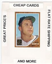 1996 TOPPS Mantle Commemorative Set MICKEY MANTLE  (Yankees) #12