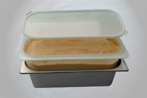 Napoli Ice cream containers and lids pack quantity 468,  4.7 lts polypropylene