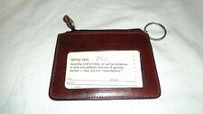 Simon 70H Burgundy Leather Key/ ID Travel Wallet