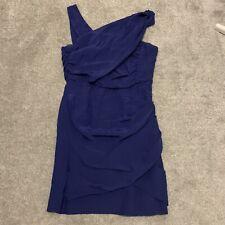 REISS SIZE 12 UL Royal Blue Sleeveless Dress Party