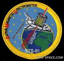 STS-91 ALPHA MAGNETIC SPECTROMETER - ANTIMATTER - NASA SHUTTLE MISSION PATCH