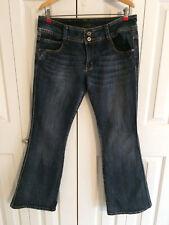 Piama Women's Bootcut Light Blue  Denim Jeans Double Button Front Size 13