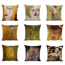 Modern Abstract Art Pillow Covers Linen Luxury Gold Cushion Cover Home