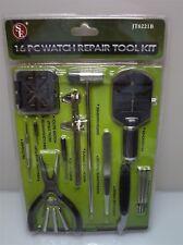 16 Piece Watch Repair Tool Kit NEW Jeweler Clock Repair shop bench