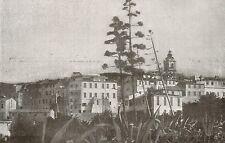 D1013 Bordighera Vecchia - Veduta - Stampa antica - 1917 old print