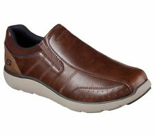 Men's Skechers Montego - Alvaro Loafer Shoes, 65278 /RDBR Sizes 8-14 Red Brown