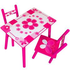 Kindersitzgruppe mit 2 Stühlen Kindermöbel Esstisch Kindertisch Kinderstuhl
