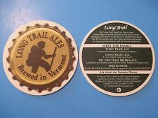 Beer Coaster <^> LONG TRAIL Ales: IPA, Brown, Pollenator Golden Ale ~<>~ VERMONT