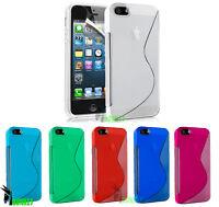 CUSTODIA CASE COVER PER APPLE IPHONE 5 5S WAVE ONDA S LINE TRASPARENTE SLIM TPU