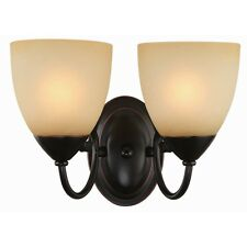 Oil Rubbed Bronze 2 Bulb Bathroom Light Wall Sconce #168212