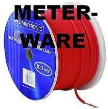 Studiomikrofonkabel Meterware ROT 2x 0,22 mm² Mikrofonkabel Mikrokabel DMX-Kabel