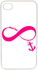 Hot Pink Eternal Love Infinity Symbol with Anchor on iPhone 4 4s Case Cover