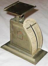 Vintage Goldtone Metal Columbian Postage Scale 5 Cents per OZ - Pelouse MFG