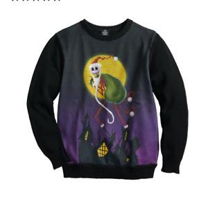 Nightmare Before Christmas Jack Skellington Ugly Sweater-siz M 10/12 -New W/tag