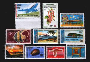 Komoren ** Lot  #03  Aufdruckmarken 1975