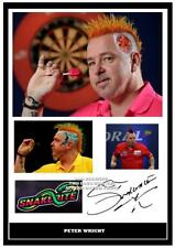 094.   peter wright darts signed photograph reprint great gift