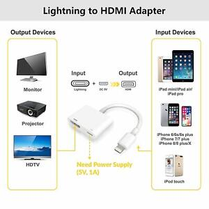 8 PIN to HDMI Adapter Cable Digital AV TV For iPhone6/7/8 Plus X iPad 1080P