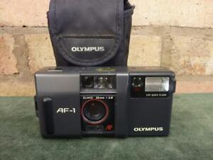 A nice vintage Olympus AF-1  Point and Shoot 35mm compact camera
