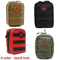 "8"" Tactical First Aid IFAK Kit Survival Molle Rip-Away EMT Pouch Bag Medical Bag"
