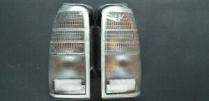 TOYOTA HILUX SURF JDM 96 02 RARE ALL CLEAR TAILLIGHTS (LENSES ONLY) 4 RUNNER