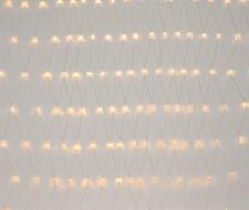 [in.tec]® 3x3m Rete di luci 240 LED dentro/fuori ghirlanda di luci bianco caldo