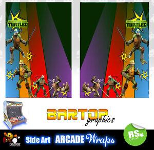 TMNT V4 sides Bartop Arcade Artwork Sides Overlay Graphic Stickers