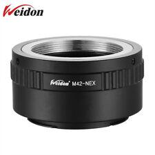 Weidon Metal M42 to Sony E mount Adapter Screw Lens NEX a6500 A7 A7RII A7MIII