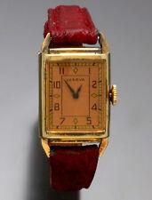 Vintage Art Nouveau Dial Geneva Watch Mechanical 15-Jewel Manual Wind C. 1940s