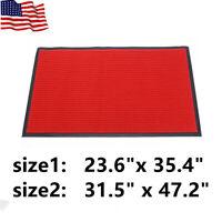 Door Floor Mat Rug Doormat Red Durable Anti-Slip Rubber For Entrance Bathroom US