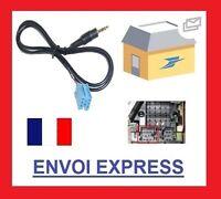 Cable auxiliaire aux mini iso autoradio jack blaupunkt grundig becker 8 pin audi
