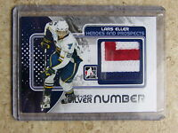 10-11 ITG H&P Heroes Prospects LARS ELLER Game-Used Number Silver /3