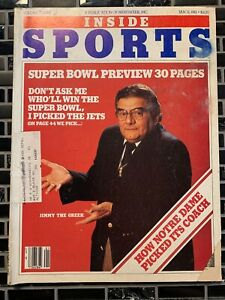 Inside Sports - 30 Page Super Bowl Preview - January 1981 -(M20A)