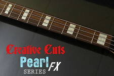 Blocks AGED VINTAGE PEARL block Inlay Stickers Decal Set for Fender or ANY BASS