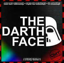 Car Decal The Darth Face Bumper Sticker Star Wars DUB JDM North Face 17 Colours
