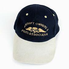 Aircraft Owners & Pilots Association AOPA Baseball Cap Hat Blue Strapback