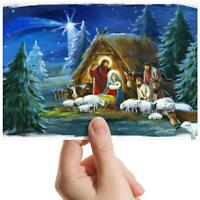 "Nativity Scene Christmas - Small Photograph 6"" x 4"" Art Print Photo Gift #16504"