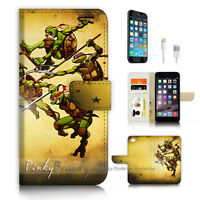 ( For iPhone 7 ) Wallet Case Cover P3268 Ninja Turtle TMNT
