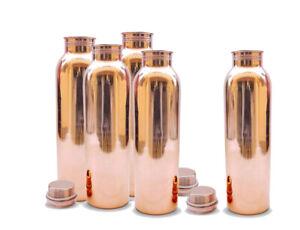 5 X Pure 100% Kupfer Handmade Flasche 900 ML Natur & Ayurveda Gesundheit