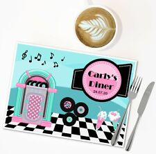Personalised American Diner Disposable Table Place Mats -Wedding Birthday Party