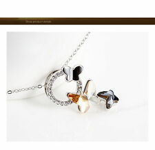 Modeschmuck-Halsketten aus Kristall mit Beauty-Themen