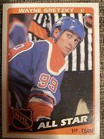 Wayne Gretzky Oilers 1984 Topps Allstar