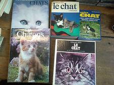 Lot de 5 livres Votre chat Le chat La passion des chats les chatons ...