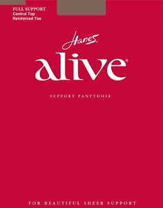 Hanes Alive Womens Full Support Control Top RT Pantyhose - Best-Seller!