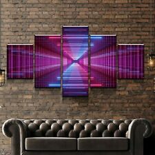 5 panel canvas Infinity Led Mirror Wall Art Home Decor Poster Print