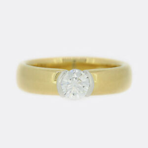 Tiffany & Co. 18ct Yellow Gold 0.40 Carat Diamond Band Ring