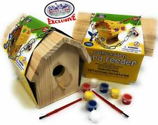 Matty's Toy Stop Paint-A-Barn Wooden Birdhouse & Bird Feeder (Includes Paints.